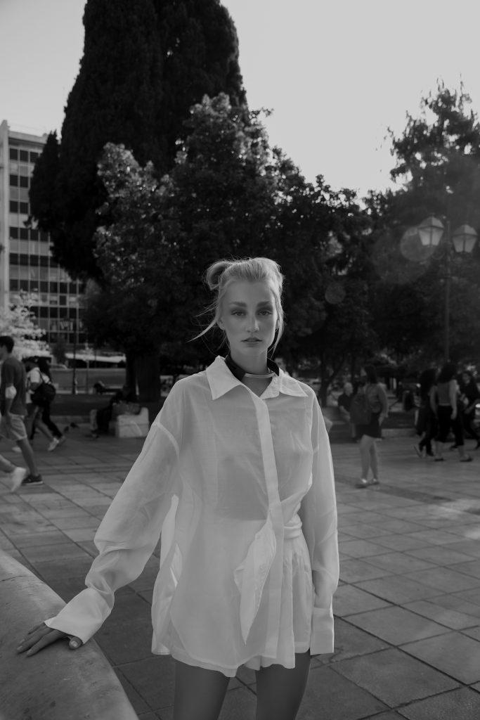 shirt : Valentino roma choker : Eleanna Katsira